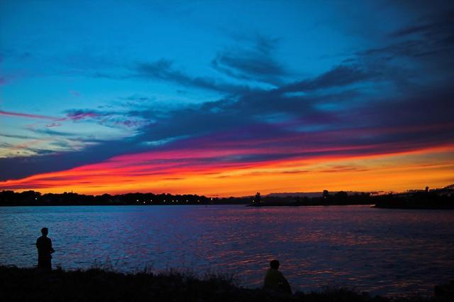 Sunset Fishing St Clair River Sarnia Ontario Ross
