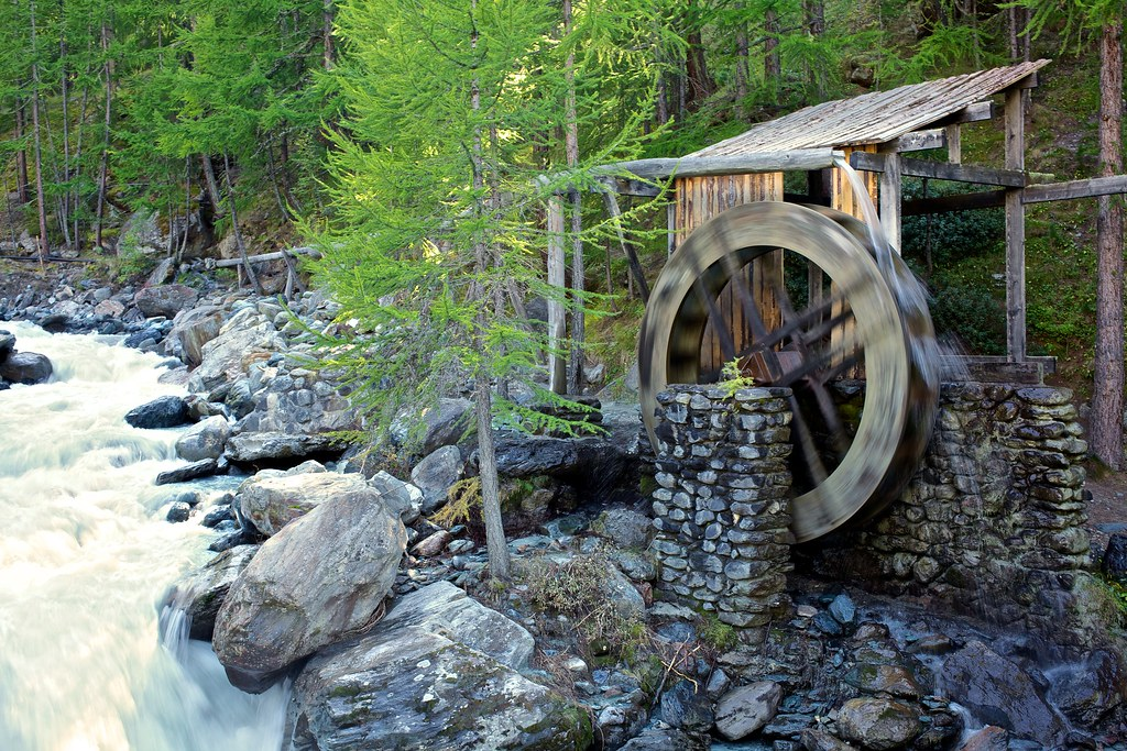 Old Water Mill Old Water Mill Sass Fee Canon Eos 5d