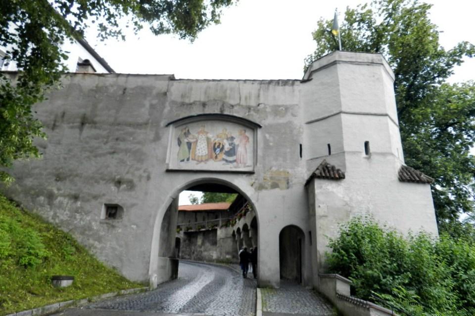 Schongau puerta Maxtor del Castillo arco muralla medieval Baviera Alemania 10