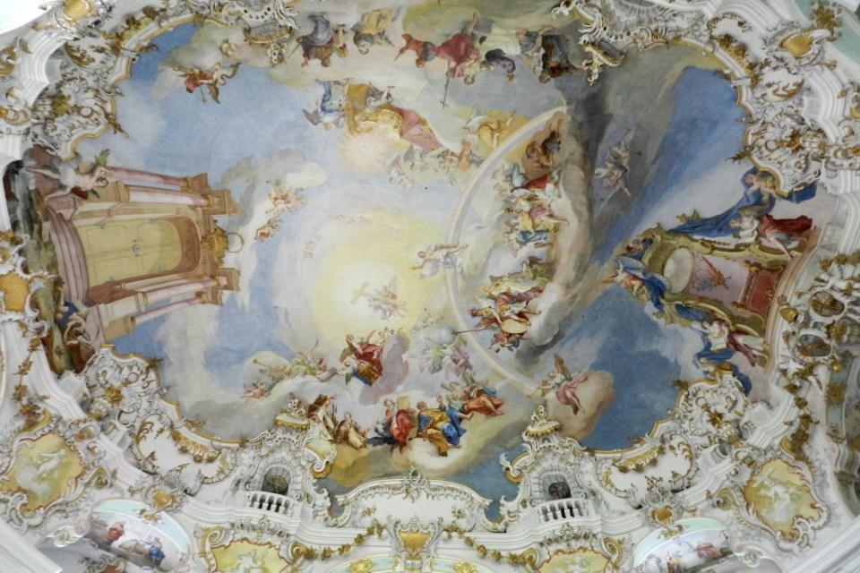 pintura al fresco trampantojo cupula interior Iglesia de Wies Steingaden Baviera Alemania Patrimonio de la Humanidad Unesco 05