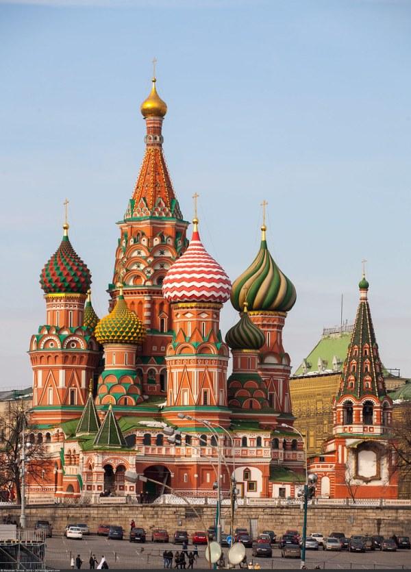 Вид на собор Василия Блаженного (Saint Basil's Cathedral o ...