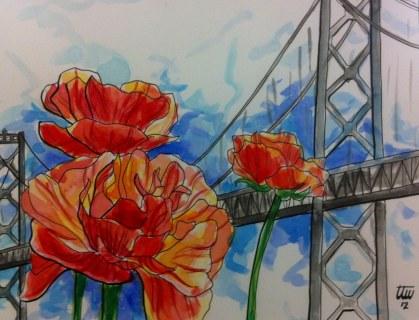 Bay Bridge Flowers