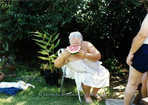 P024.326m.r.t Commonwealth: Ila Suzanne eating watermelon.