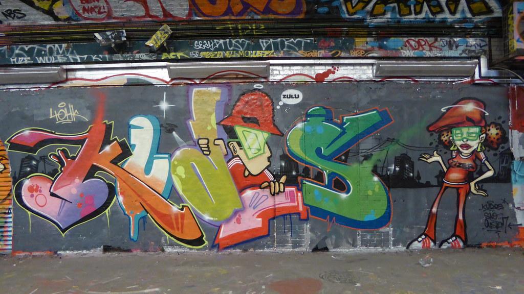 Kudos graffiti, Leake Street
