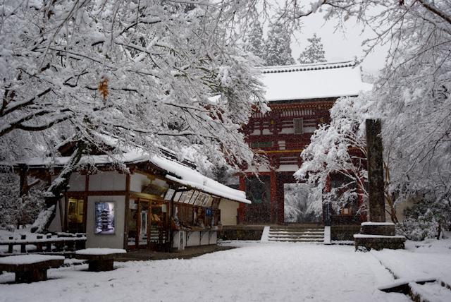 Murō-ji temple of the snow covering
