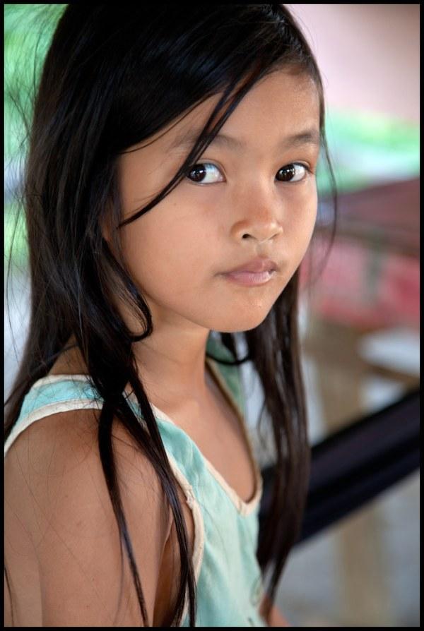 little girl in a village near Battambang | Cambodia ...