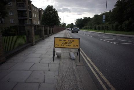 Ha-Ha Road Closed