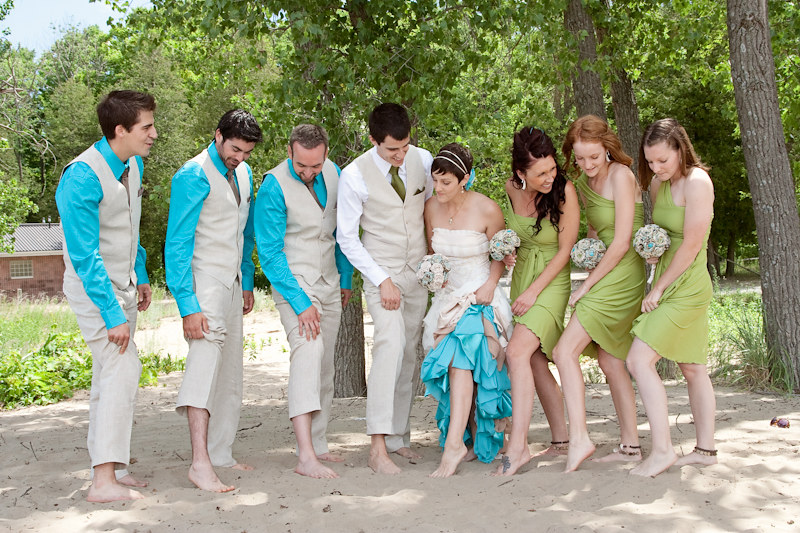 6.27.12 - Nicole & Josh's Eco-DIY Beach Wedding