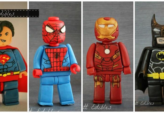 Lego Superhero Collection Fondant Cake Topper Decorations Flickr