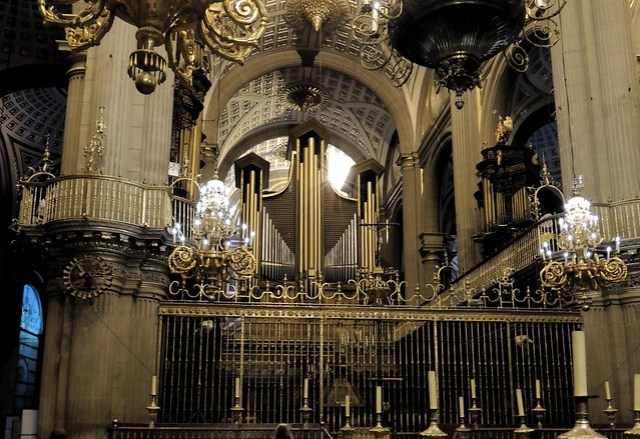 Three organs in Pueblo's cathedral by bryandkeith on flickr
