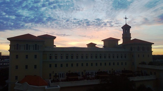 Sunrise over the new Flag Building