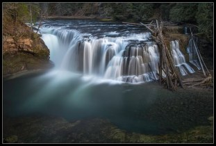Lower Lewis River Falls (Big Stopper + Polarizer)