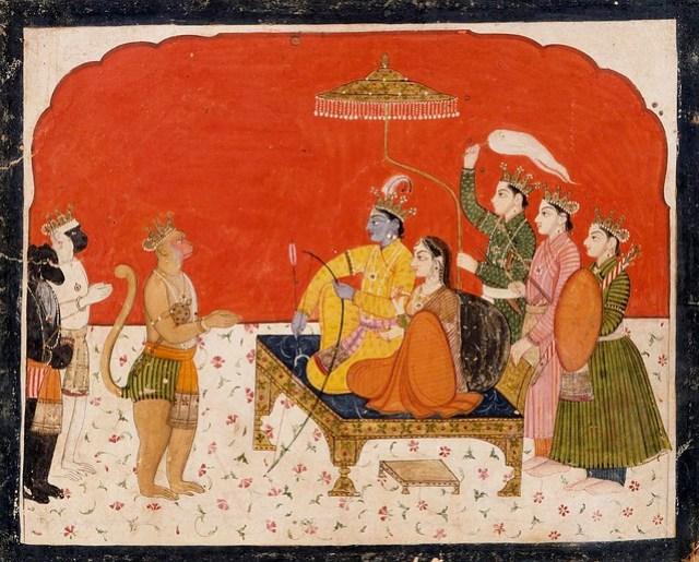 Rama's Court, Folio from a Ramayana (Adventures of Rama) LACMA AC1999.127.36