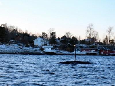Tur inn til Bærum med grunnstøting 12. januar 2014
