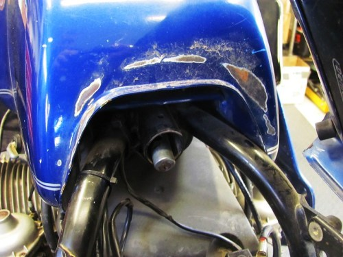 Tank Rear Paint Damage
