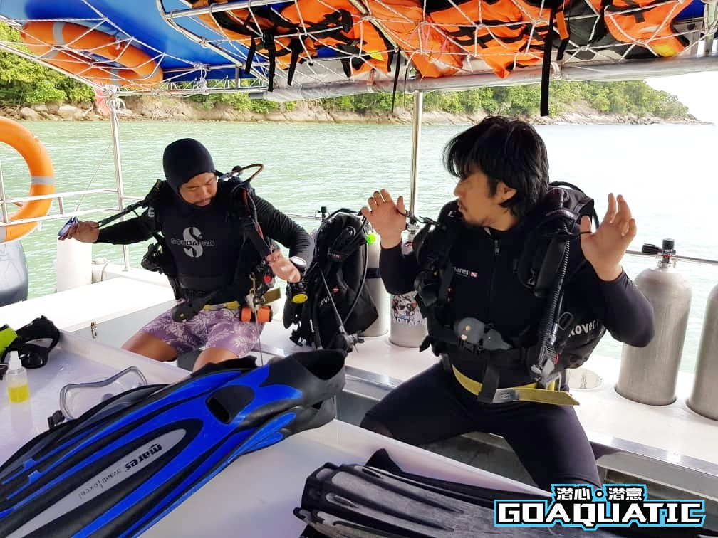 Noh Seon Teck learns scuba diving at Kota Kinabalu With Go Aquatic In PADI Open Water Course