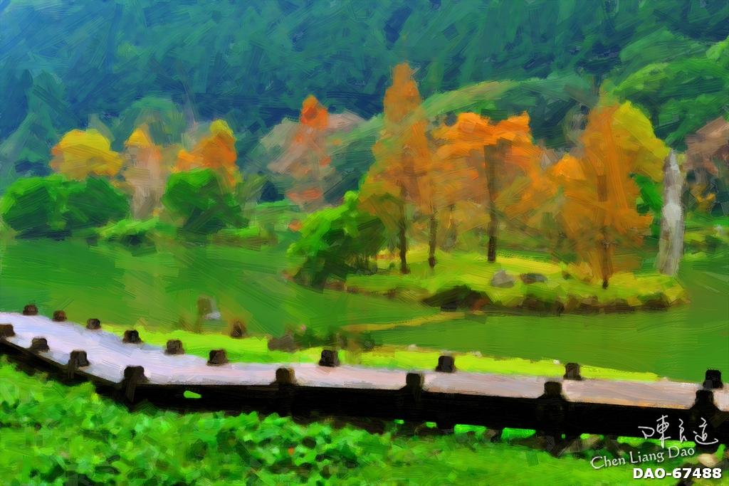 DAO-67488 | 油畫,繪畫,明池,明池國家森林遊樂區油畫,秋天 | Chen Liang Dao 陳良道 | Flickr