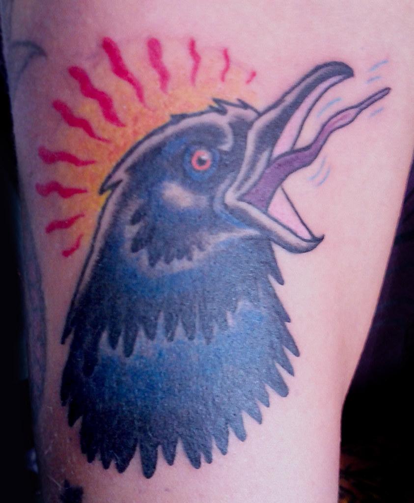 Crow Bird Black Neo Traditional Tattoo Monique Ligons Tatt Flickr