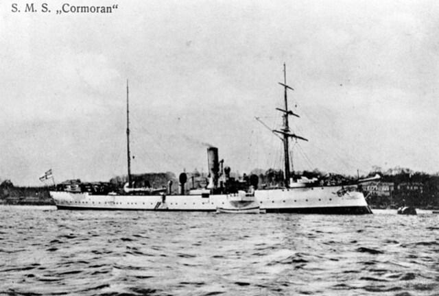 SMS Cormoran in Tsingtao, 1914