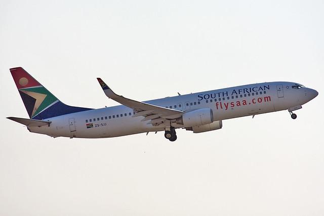 ZS-SJJ, Boeing 737-85F (WL), (30567), South African Airways, O.R. Tambo International Airport, Johannesburg, (JNB), 30/08/2008