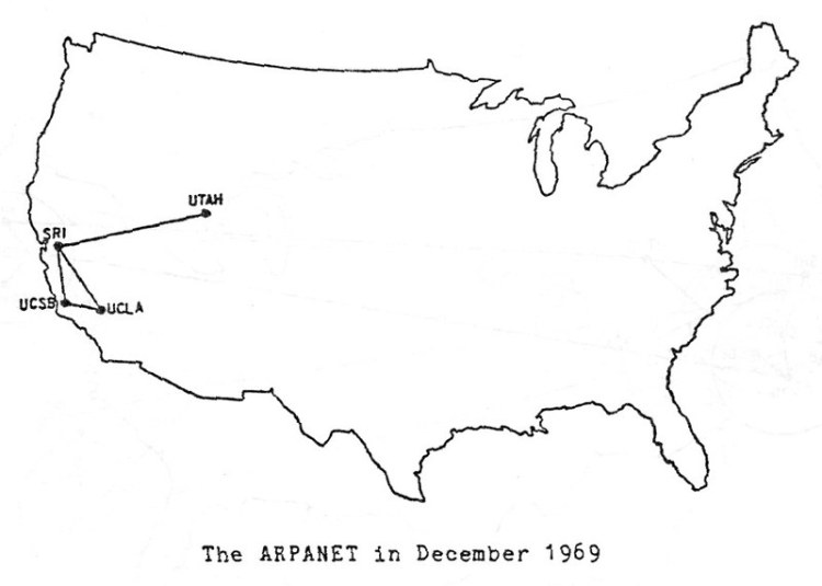 1969-00 | Map of ARPANET as of December 1969 (Source: BBN/DA… | Flickr