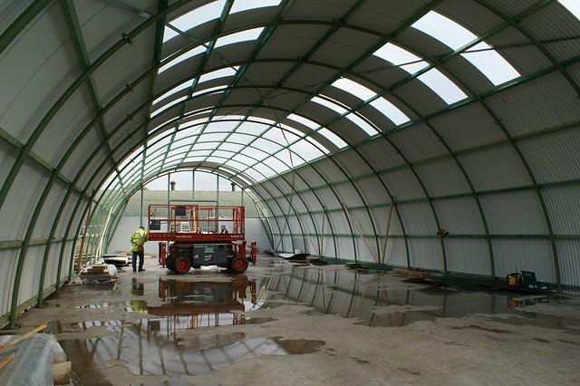 Progress on maintenance shed 4/04/2018
