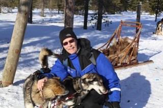 Huskies like man