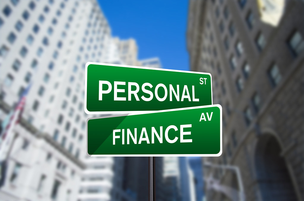 Personal Finance Street Sign On Wall Street Personal
