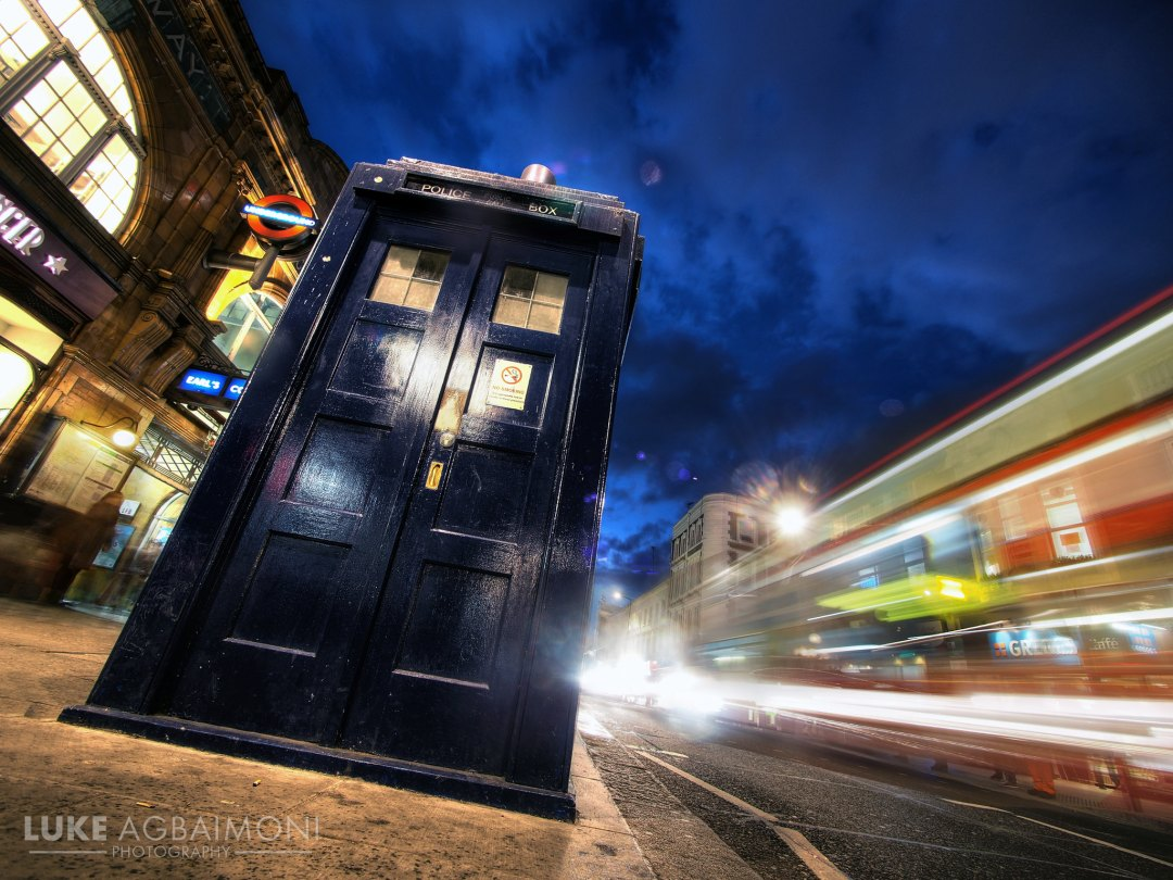Tardis at an angle - Earls Court - London