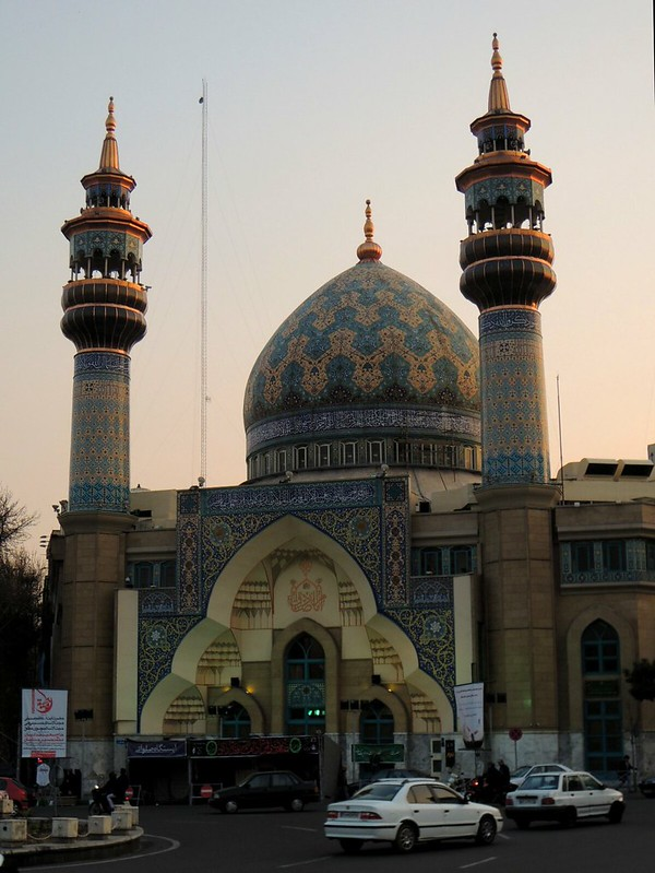 The first mosque I visited in Iran by bryandkeith on flickr
