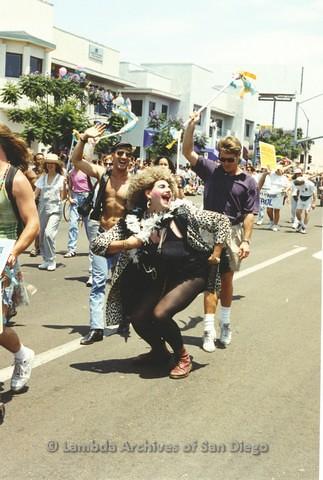 1994 - San Diego LGBT Pride Parade: Crowds Along University Avenue Parade Route.
