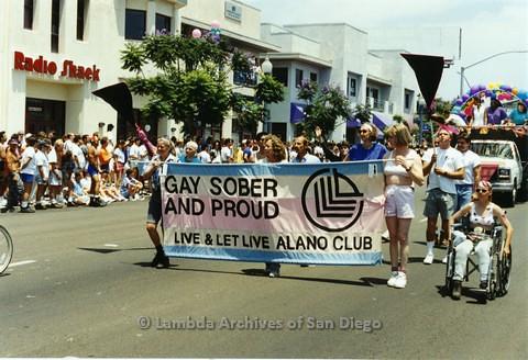 1994 - San Diego LGBT Pride Parade: Contingent - Live and Let Live Alano Club.