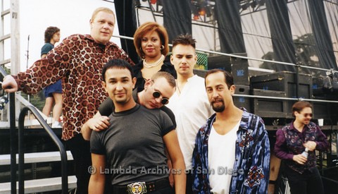 1995 - San Diego LGBT Pride Festival: Performance Group Bronski Beat Back Stage at the Entertainment Main Stage.