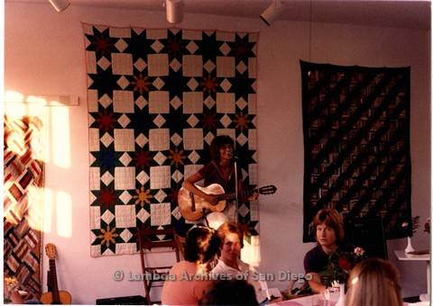 1984, unknown Lesbian performer at Wing Cafe Feminist performance space.
