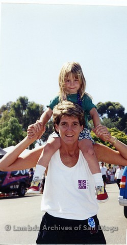 1995 - San Diego LGBT Pride Festival: Lesbian Mother and Child.
