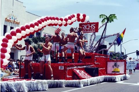 1994 - San Diego LGBT Pride Parade: Contingent - Rich's Gay Men's Disco Float
