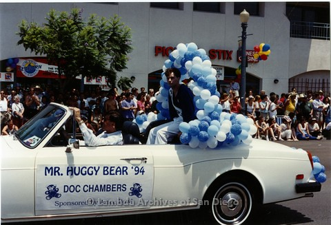 1994 - San Diego LGBT Pride Parade: Contingent - Doc Chambers, 'Mr. Huggy Bear' - 1994.