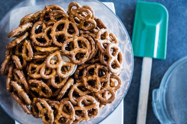 pretty pretzels about to become powdered pretzels