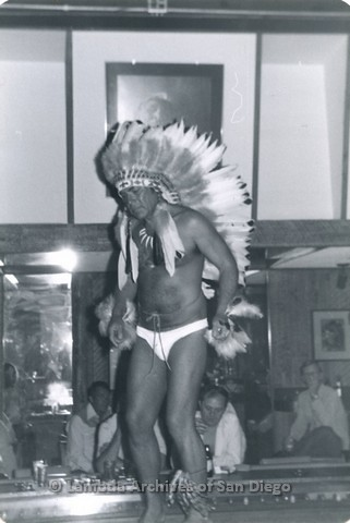 1982 - Ed Coleman dancing at Different Drum Levi/Leather Club, presentation of headdress.