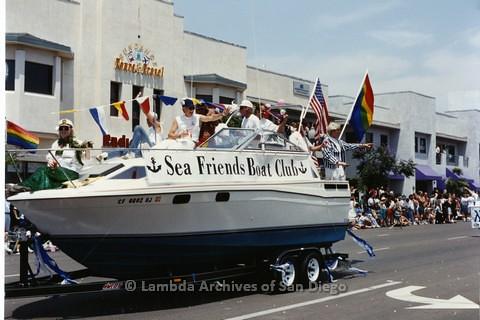1994 - San Diego LGBT Pride Parade: Contingent - 'Sea Friends' Gay Boating Club.