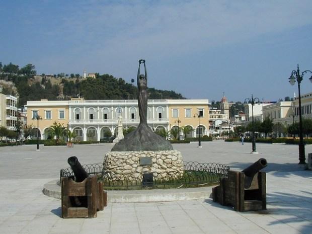Solomos Square and Zakynthos Museum   Plateia Solomou, Zakynthos