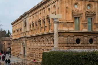 Het eerste gebouw waar ik in ging was het paleis van Carlos V.