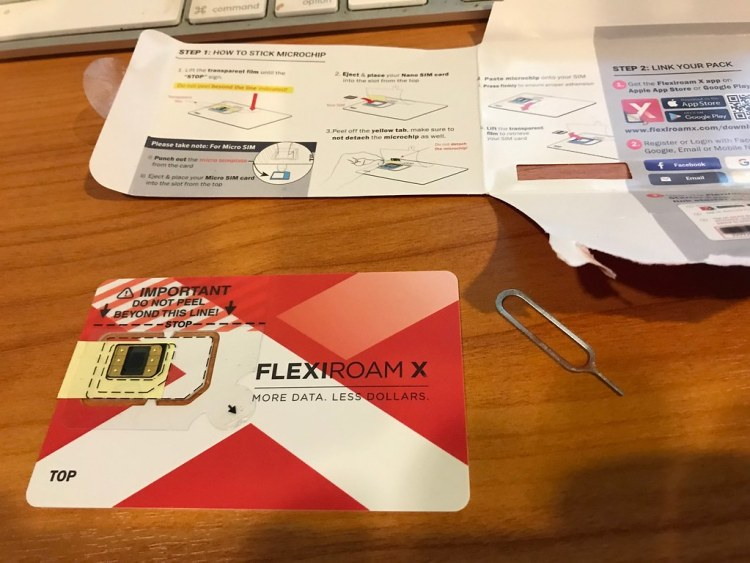 Flexiroam X Unboxing 1