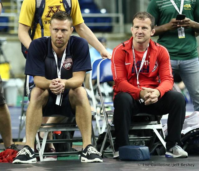 Minnesota Coaches Jared Lawrence and Brandon Paulson 180720AJF0235