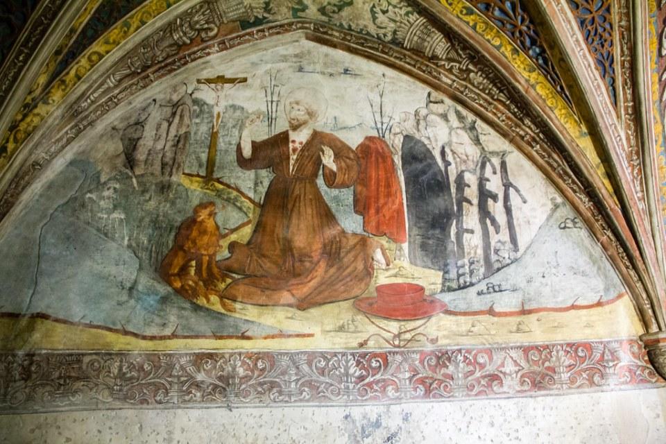 Claustro pintura mural Iglesia S. Francisco de Asis y exconvento Tarazona Zaragoza 09