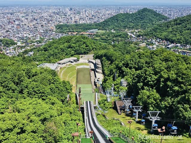 Okurayama Ski Jump Stadium Hokkaido Japan