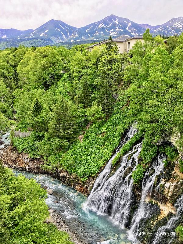 Shirahige Waterfall Biei Hokkaido Japan