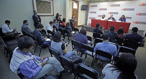 Presidente del Consejo de Ministros, César Villanueva, informa sobre los acuerdos tomados en sesión de consejo.