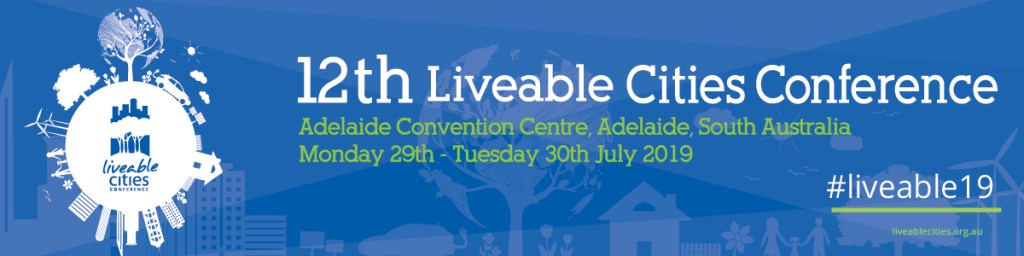 Adelaide liveable cities conference banner