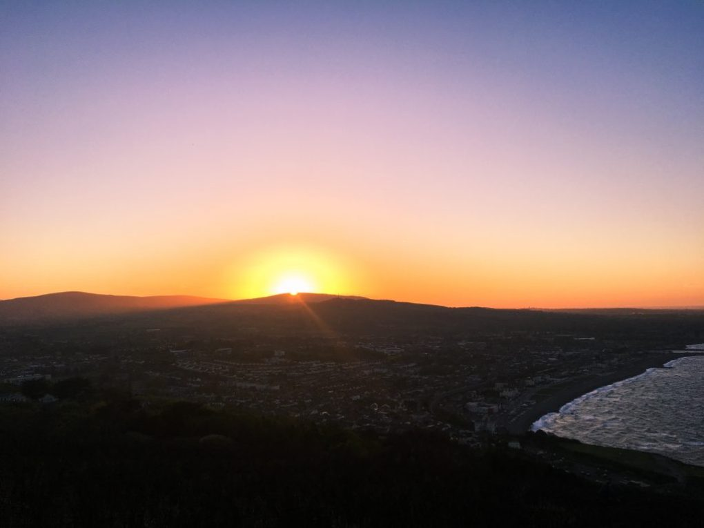 Dublin Sunset Bray Head